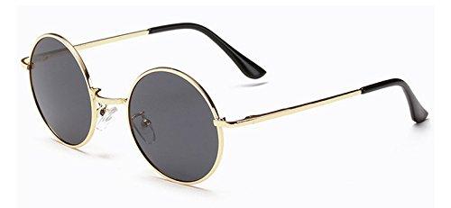 Zokra (TM Metallrahmen Sonnenbrillen f¨¹r M?nner polarisierte Frauen-Glas-Marken-Sonnenbrille M?nner Shades UV400 Sonnenbrillen Lunette de Soleil [Gold Grau]