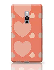 PosterGuy OnePlus Two Cover Cute Background With Hearts Pattern