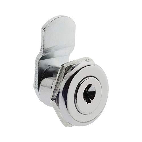 Burg-Wächter Ersatzzylinder für Briefkästen, Hebelschloss, für Materialstärke von 1 bis 2 mm, verchromt, ZBK 71 SB, 1 Stück