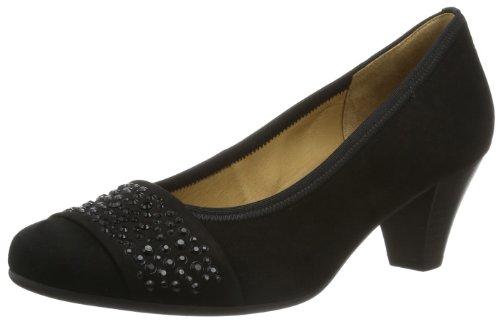 Gabor Wallace Suede Mid Heel Court Shoes 36 EU Black Suede