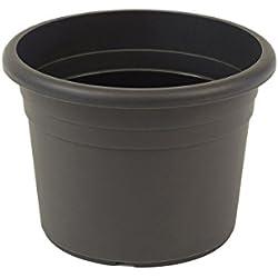 greemotion Pflanzkübel Fiona Anthrazit-Grau- Blumentopf 60cm - 61L Blumenkübel rund - Übertopf UV-beständiger Kunststoff - Pflanztopf frostsicher - Pflanzgefäß mit Bodenlöchern - Pflanzen-Zubehör