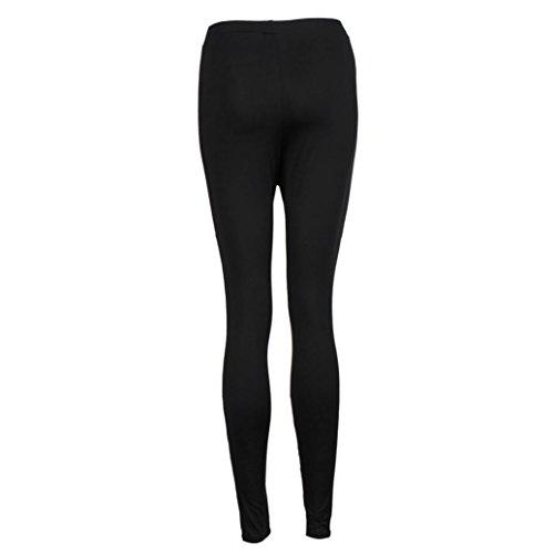 Amlaiworld Maille Pantalons de Sport Leggings de Sport, Yoga, Pilates, Plank, Jogging et Fitness Noir