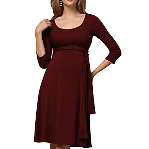 Zhhlinyuan Schwangerschafts Kleid Fashion Damen Stillen Skaterkleid - Ladies Umstandskleid Cocktail Maternity Kleid,Size M-XXL