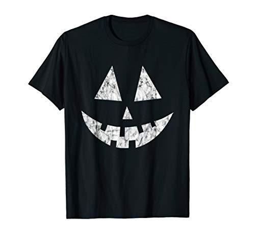 Jack o Lantern Kürbis Gesicht Vintage Retro T-Shirt (Green Lantern Kostüm Halloween)