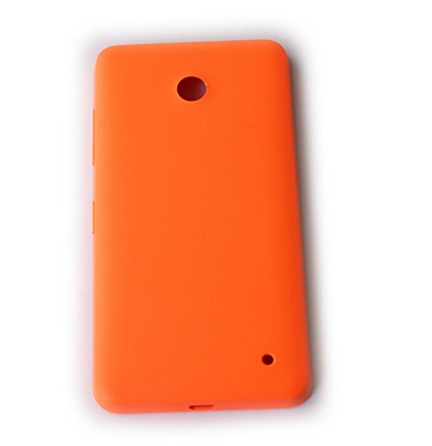 Feicuan Replacement Matte Housing Battery Rear Back Door Cover Case and Film Screen Protector für Nokia Lumia 630 635 636 638 - Orange Batterie Back Door Cover Case