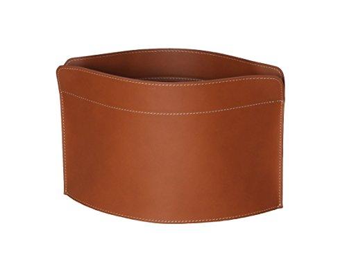 GIUSY: Zeitungsständer Lederfarbe Braun, Zeitschriftenständer aus Leder, Magazinhalter, Zeitungskorb, Made in Italy by Limac Design®.
