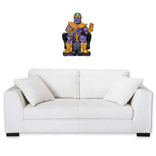 okiWoki Frontones Decorativos Dragon Ball Super/Thanos humorística con Thanos de Avengers y Beerus de Dragon Ball Super (Parodia de Dragon Ball Super/Thanos)