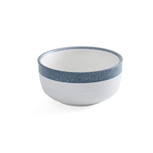 HYDT Bol Assiettes bols domestiques, Vaisselle une pièce en céramique, combinaison gratuite, Certification FDA , Convient pour micro-ondes, fours (Couleur : Rice bowl)