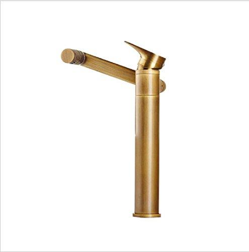 AMZH Aufsatz-Becken-Hähne Volles Kupfer-Becken Heißer und kalter Wannen-Hahn Multifunktionaler drehbarer Badezimmer-Schrank-Wasser-Hahn , h