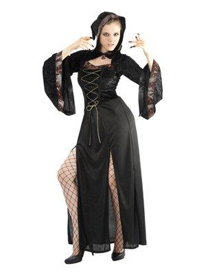Kostüm superluxe Halloween Hexe Gothik ()