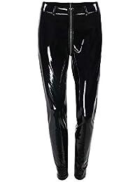 922c026821cf Kbwin PU-Hose für Damen - Damen Leggings Wet mit Shiny Disco High Waist  Skinny