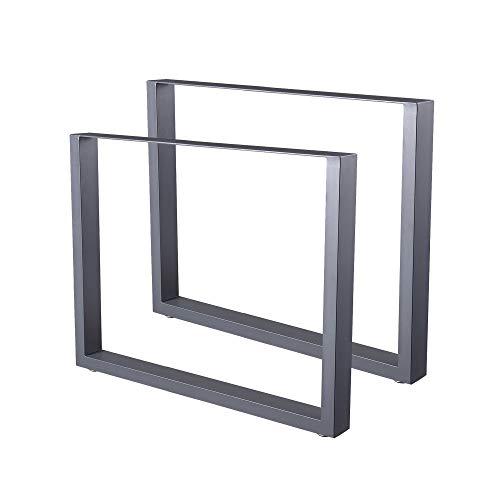 Zelsius Lot de 2 pieds de table en acier brut ou gris