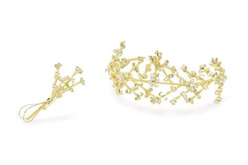 Fertig-Modelle Diadem und Anstecker zur goldenen Hochzeit
