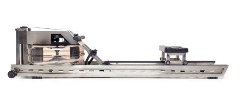 Water Rower Rudergerät Edelstahl mit S4 Leistungsmonitor, 210x56x53 cm