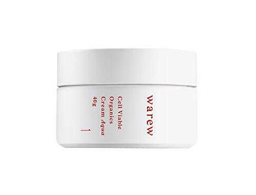 warew Cream Aqua – Crème Visage Aqua avec extraits de plantes médicaments japonais, concentrated Deep Sea Water et extrait de fleur et huile de graines de grenade, qualité Made in Japan, 40 g