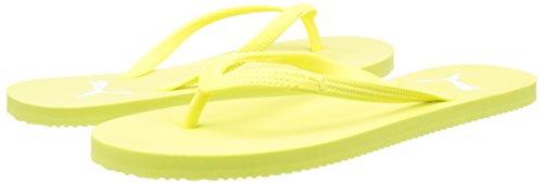 Puma Damen First Flip Wns Zehentrenner, Gelb (Soft Fluo Yellow-Puma White 08), 42 EU -