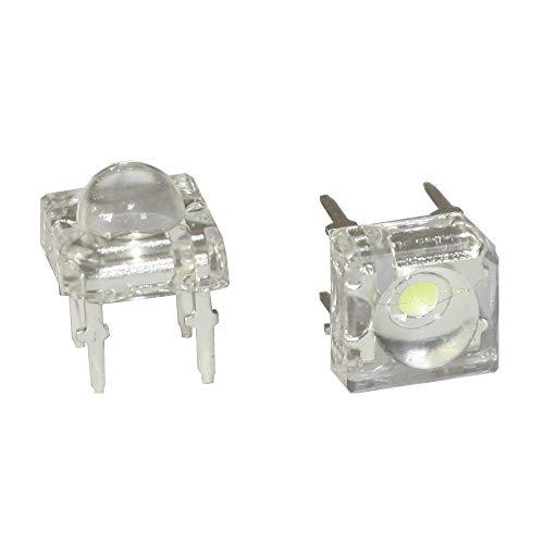 10 x Verkabelte Dioden LED Plastik Halterung Wired Warm Weiß Klare Linse 6V 3mm