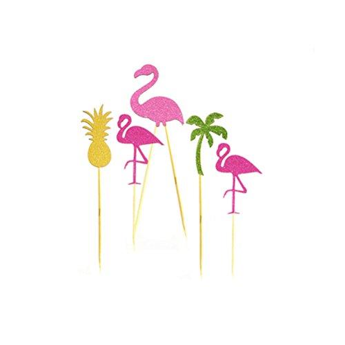 OUNONA-Topper-Tarta-Cupcake-Decoracin-Palillos-Cctel-Flamingo-Flamenco-Palmera-Pia-5-Unidades