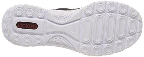 Rieker Ladies N4263 Sneaker Blu (pacifico / Blu Marino / Nero)