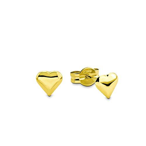 Amor Damen-Ohrstecker 0,5 cm Herz 585 Gelbgold