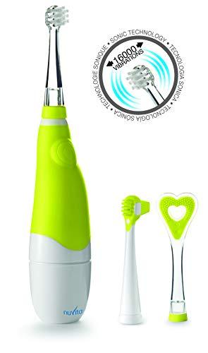 NUVITA 1150 | Baby & Kinderzahnbürste mit Sonic Schalltechnologie | Elektrische Kleinkinder Zahnbürste | Zahnpflege für Babys ab 3 Monate | Baby Sonic | Baby Safe & FREI von BPA | EU Markenprodukt