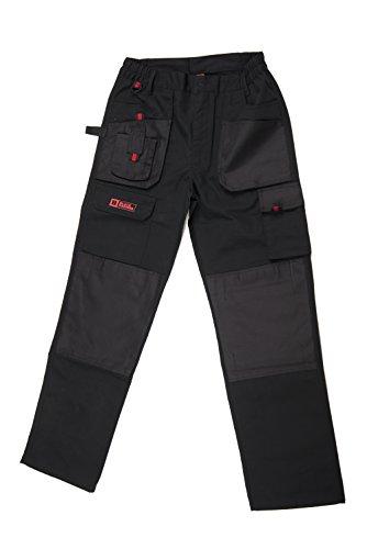 Multi -Taschen Cargo Hose für schweren Gebrauch, für Profis, wasserdicht, robuste Arbeitshose, dreifach genäht, Schoner an Knien und Belastungspunkten, SublimeW36