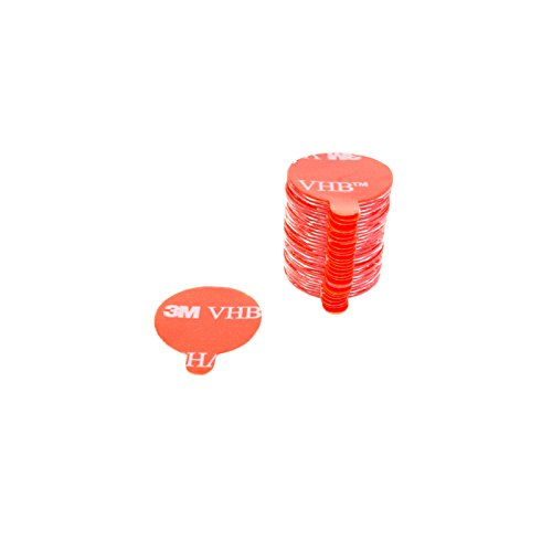 DonDo 3M VHB 4905F Klebeband Klebepads Klebestreifen doppelseitig hochtransparent für hochenergetische Werkstoffe Durchmesser 20mm - 30 Stück