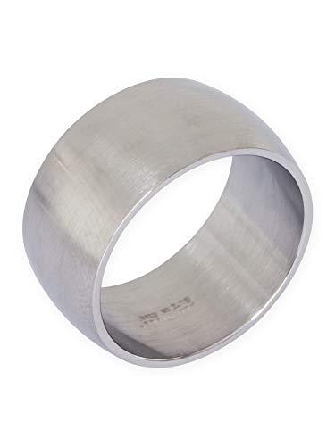 Fly Style Bandring Edelstahl Ring für Damen Herren | 8-12 mm breit | matt oder poliert, Ring Grösse:22.9 mm, Oberfläche:12mm Matt (Größe 8 Günstige Verlobungsringe)