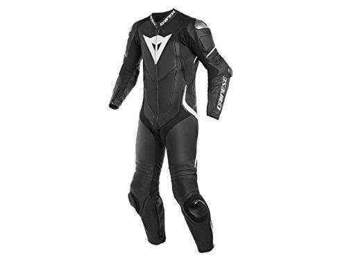 Dainese Einteiler, Motorradkombi einteilig, Bikerkombi Laguna SECA 4 Kombi 1-TLG, perforiert schwarz/weiß 44, Herren, Sportler, Ganzjährig, Leder