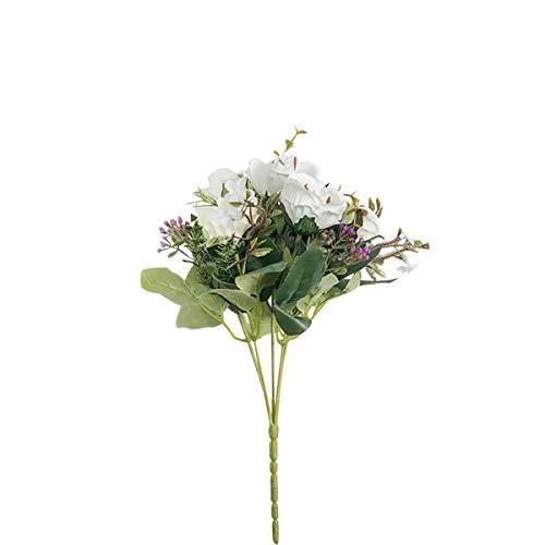 Mingzuo Kunstblumen Rosen Kunstblumen Kunstblumen echte Natur Kunstpflanze Maria Rose Blume, weiß, Standard (Künstliche Blumen Für Die Beerdigung)