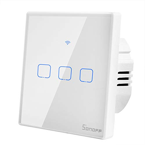 Sonoff T2 Interruptor WiFi Pared 3 Canales Inalámbrico