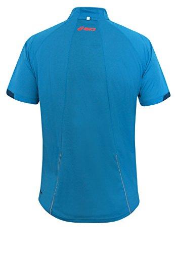 Asics Miles 1/2 Zip Short Sleeve Top BLAU 1145278070 Grösse: L - blau