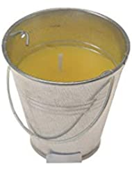 NO LABEL Citronella Candle in a Bucker, Steel Yellow, Ø 6.5x6.5cm