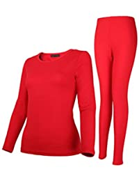 55ce652a3b Rojeam Conjunto Interior Térmico para Mujer y Hombre Camiseta Manga Larga  Pantalones Largos Ropa Interior Termica