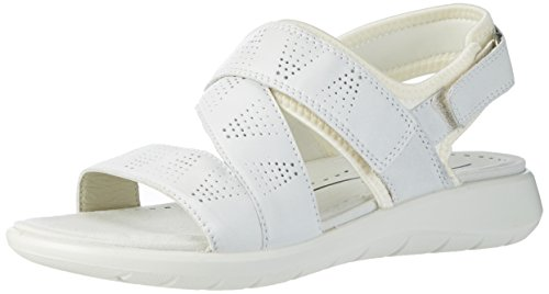 Ecco Ecco Soft 5 Sandal, Sandales  Bout ouvert femme Weiß (50874WHITE/WHITE)