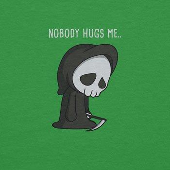 Planet Nerd - Nobody Hugs Me - Herren Kapuzenpullover Grün