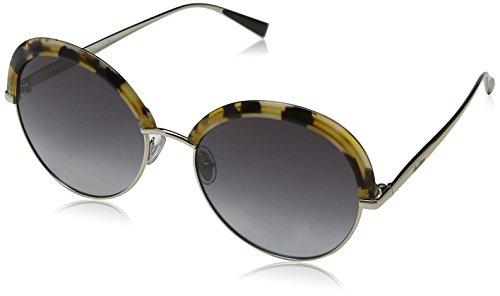 Max mara mm ilde ii 9o 2pv 57, occhiali da sole donna, oro (havana lt gold/brown)