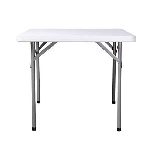 Tragbarer Klapptisch (ohne Stuhl) Quadratischer Tisch Innen und Außen Dual Use Reserved Regenschirm Loch Griff Living Camping Stall Keine Installation