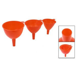 MG Universal Kitchen Plastic 3 in 1 Water Filler Tool Round Funnels Red LW Red Funnel
