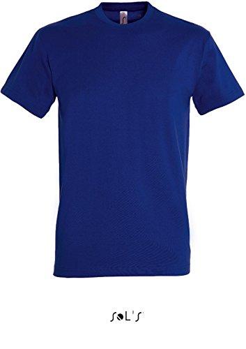 Parte superiore camicia da uomo a maniche lunghe camicia Oxford disponibile fino a misura 6XL blu oltremare