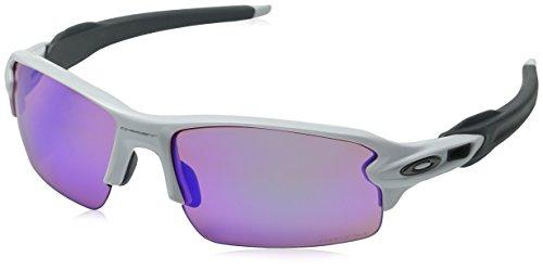 Oakley Herren Sonnenbrille Flak 2.0 Weiß (Polished White/Prizmgolf), 59