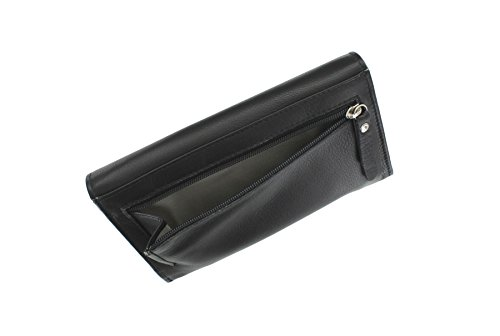 Flap in pelle Mala ORIEL Collection Negli borsa 3288_84 Viola nero
