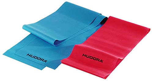 HUDORA Fitness-Band Set 2 Stück - Gymnastik-Band elastisch - 64148