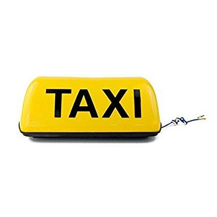 12 V 27,9 cm Cab Taxi Panneau Taxi lumière étanche Taxi Toit de lumière 5 W de voiture avec magnétique Base de bâton