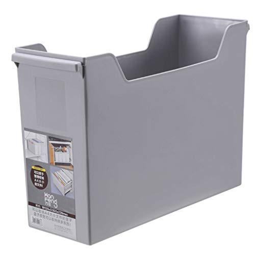 J+N NJ Aufbewahrungsbox- Schreibtischbuch-Aufbewahrungsbehälter, Ablagekorb der Speicherdatei (Farbe : Gray, größe : 35x12x24cm)