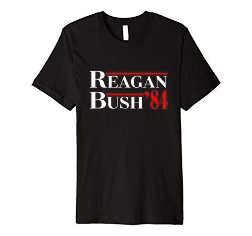 Reagan Bush 84 Ticket Conservative Politics T Shirt Right