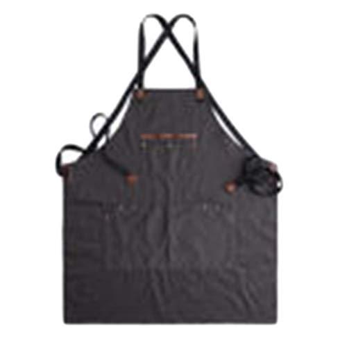 GEXING Handwerker-Schürze Canvas Tool Multi-Pocket Wasserdicht Und ölbeständig Für Schreiner Gärtner,Black-OneSize -