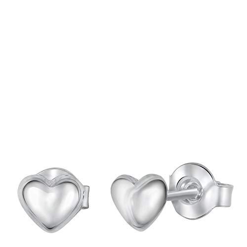 Silberne Kinderohrringe Herz