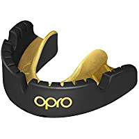 Opro Unisex's Gold Braces Sports Mouthguard