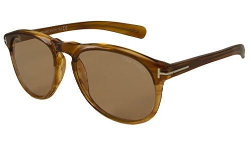 Tom-Ford-Mens-0291-Flynn-Brown-Yellow-FrameLight-Brown-Lens-Plastic-Sunglasses